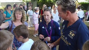 Carl Hester and Charlotte Dujardin met Sark residents and visitors