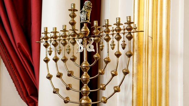 Menorah from New London Synagogue