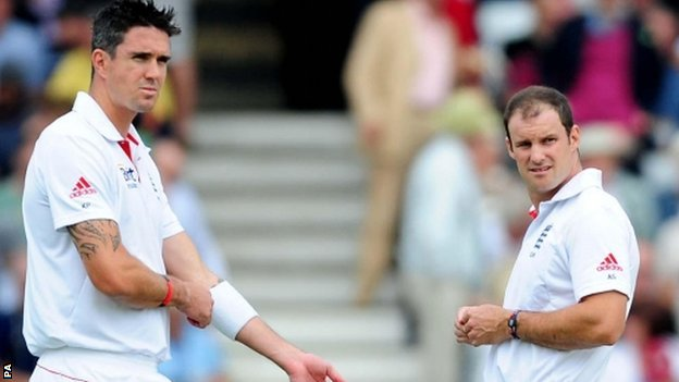 Kevin Pietersen and Andrew Strauss