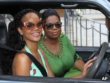 Rihanna and Oprah Winfrey