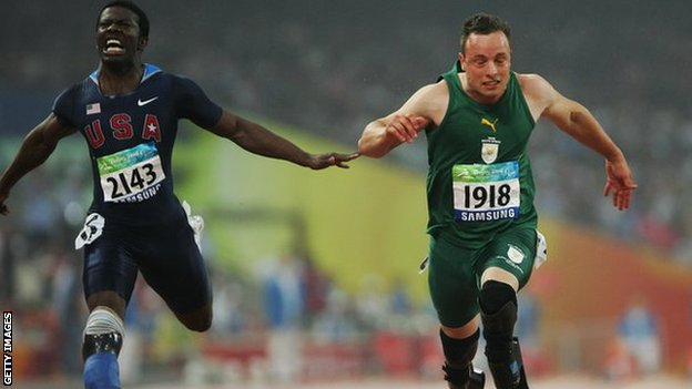 Jerome Singleton and Oscar Pistorius