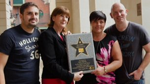 Harry's family getting the star