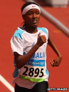 Samia Yusuf Omar at the 2008 Olympics
