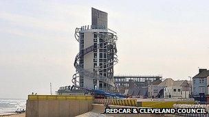 Redcar vertical pier