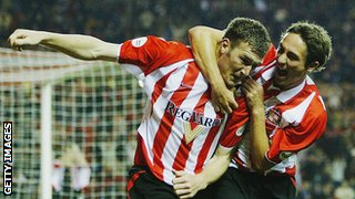 Kevin Kyle celebrates after scoring for Sunderland in 2003