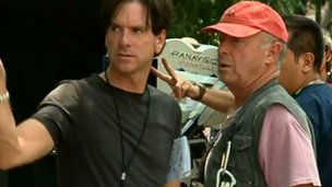 Paul Cameron and Tony Scott on the set of Man on Fire