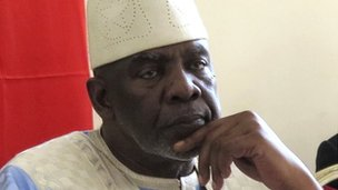 Malian interim Prime Minister Cheick Modibo Diarra pictured at a meeting with leaders from northern Mali on 10 August 2012