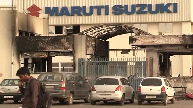 Maruti Suzuki factory in Manesar, Haryana state, India