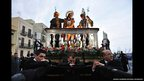 Devotees carry the scenes of Christ's passion on their shoulders during the Easter celebration in Trapani, Sicily, Italy