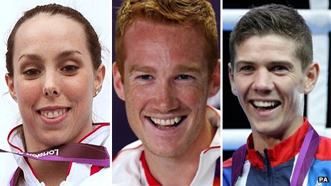 Beth Tweddle, Greg Rutherford and Luke Campbell