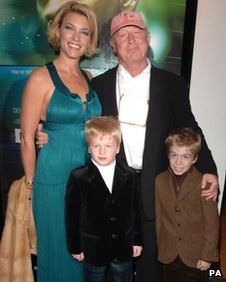 Tony Scott and his family in 2006