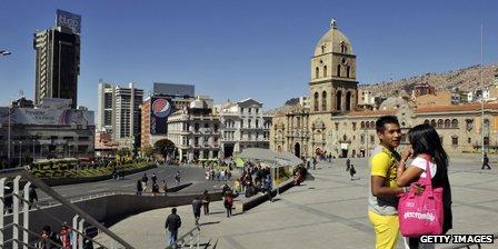 La Paz street scene
