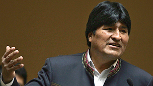 Bolivian President Evo Morales