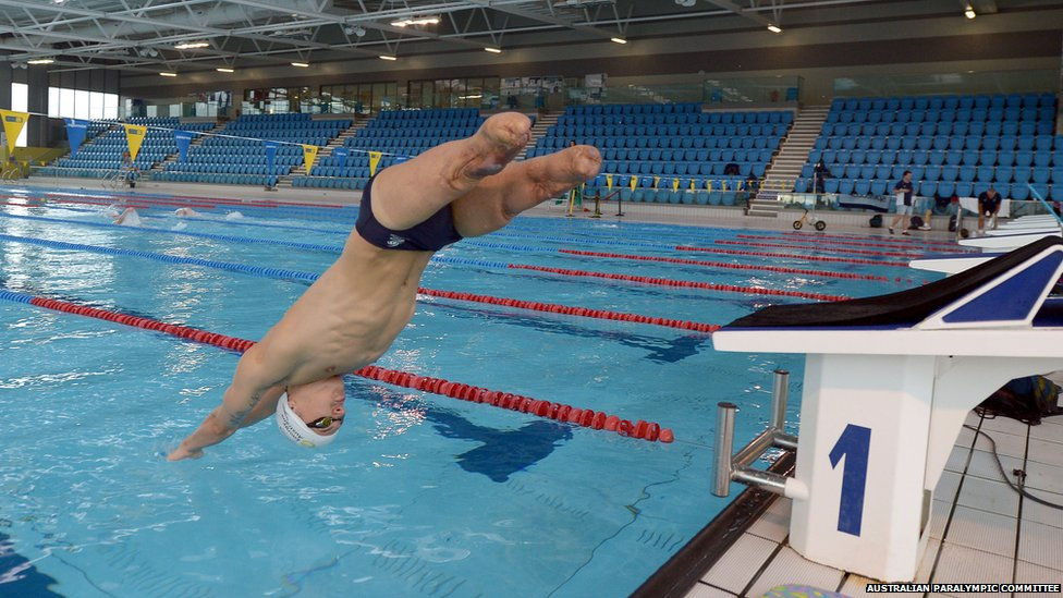 Bbc News In Pictures Paralympians Training In Wales