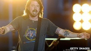 Dave Grohl fronts the Foo Fighters at the two-day Tennent's Vital festival