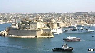 View of Malta Grand Harbour