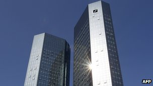 Headquarters of Germany&#039;s Deutsche Bank in Frankfurt