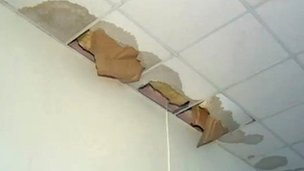 Tonypandy Primary School roof damage