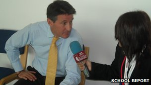 Lord Coe with School Reporter Fatima