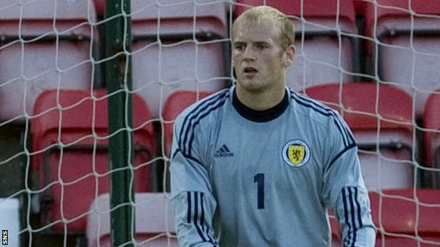 Hearts goalkeeper Mark Ridgers