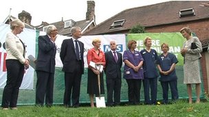 Turf-cutting ceremony for the new cancer unit