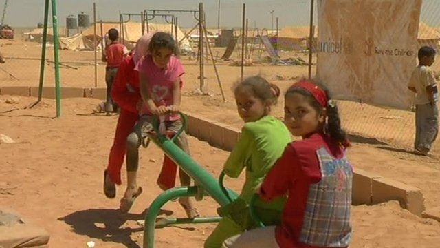 Children in the Za'atari camp