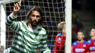 Georgios Samaras scored a second-half header for Celtic
