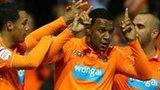 Blackpool celebrate Matt Phillips' winner
