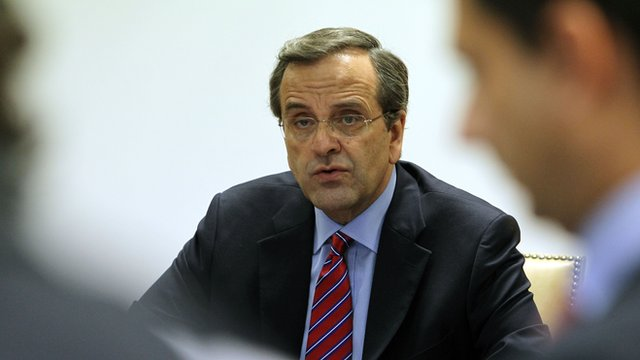Greece's Prime Minister Antonis Samaras
