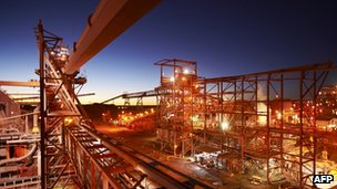Processing plant near the Olympic Dam mine in South Australia