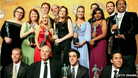 The cast of the US version of The Office accept a SAG award