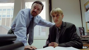 Ricky Gervais and Mackenzie Crook 