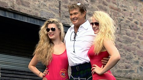 David Hasselhoff appeared in 90s TV show Baywatch