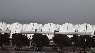 Solar power plant, India