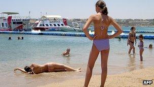Beach scene at Sharm el-Sheikh