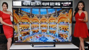 LG&#039;s ultra-definition television