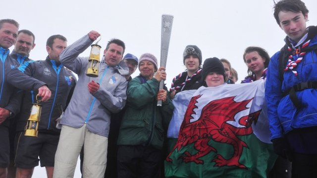 Lord Coe on Snowdon