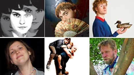 Clockwise from top left - Claudia O'Doherty, Doctor Brown, James Acaster, Tony Law, Pappy's and Josie Long