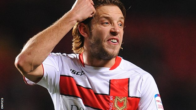 MK Dons midfielder Alan Smith