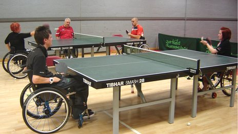 Performance academy table tennis players are put through their paces