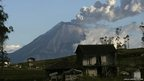 Tungurahua volcano spews large clouds of gas and ash near Banos