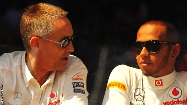Martin Whitmarsh with Lewis Hamilton