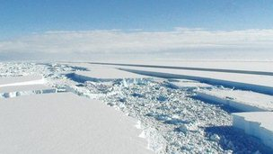 Ice shelf break-up