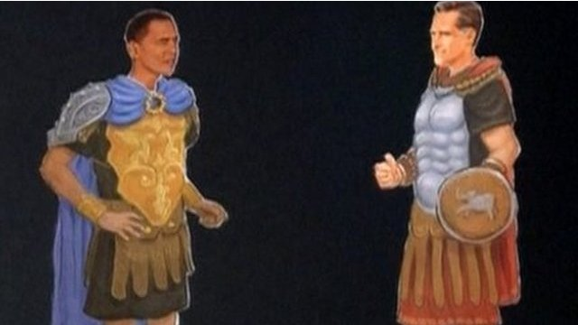 Obama and Romney paper dolls