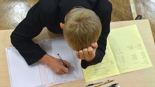 Student taking GCSE