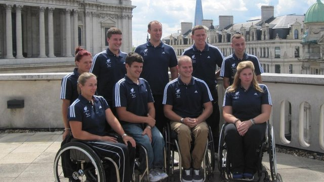 The ParalympicsGB wheelchair tennis squad members