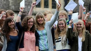 Brighton College pupils wave GCSE results