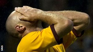 Motherwell striker Michael Higdon