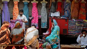 Roadside shop in Lahore, Pakistan