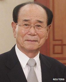 North Korea's President of the Presidium of the Supreme People's Assembly Kim Yong-nam in Hanoi 6 August, 2012